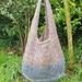 Handknitted jute bucket bag - large