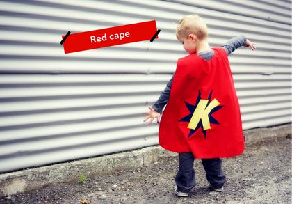 Red Custom-made Superhero Cape