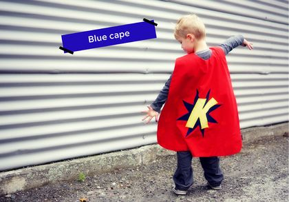 Blue Custom-made Superhero Cape