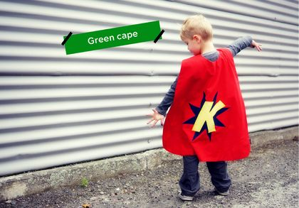 Green Custom-made Superhero Cape
