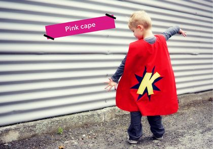 Pink Custom-made Superhero Cape