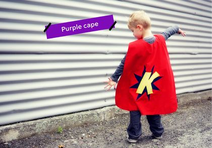 Purple Custom-made Superhero Cape