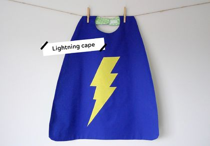 Lightning Superhero Cape