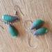 Green Shelled Mussel clay earrings