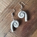 Marble texture koru shaped clay earrings