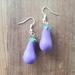 Clay Eggplant earrings