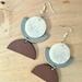 Funky clay earring