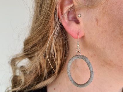 Marble texture Clay Earrings