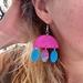 Clay dangly earrings