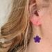 Clay Flower earring