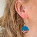 Fire and ice clay earrings