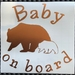 """Baby on Board"" car decal / sticker"