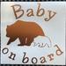 """Baby on Board"" car decal / sticker"