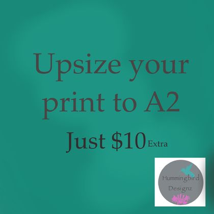 Upsize print to A3 size