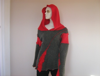 reconstructed hoody -