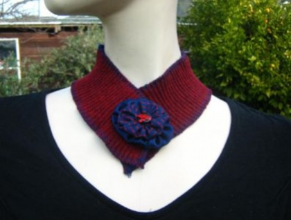 Dark Red Collar - choose from 2 designs