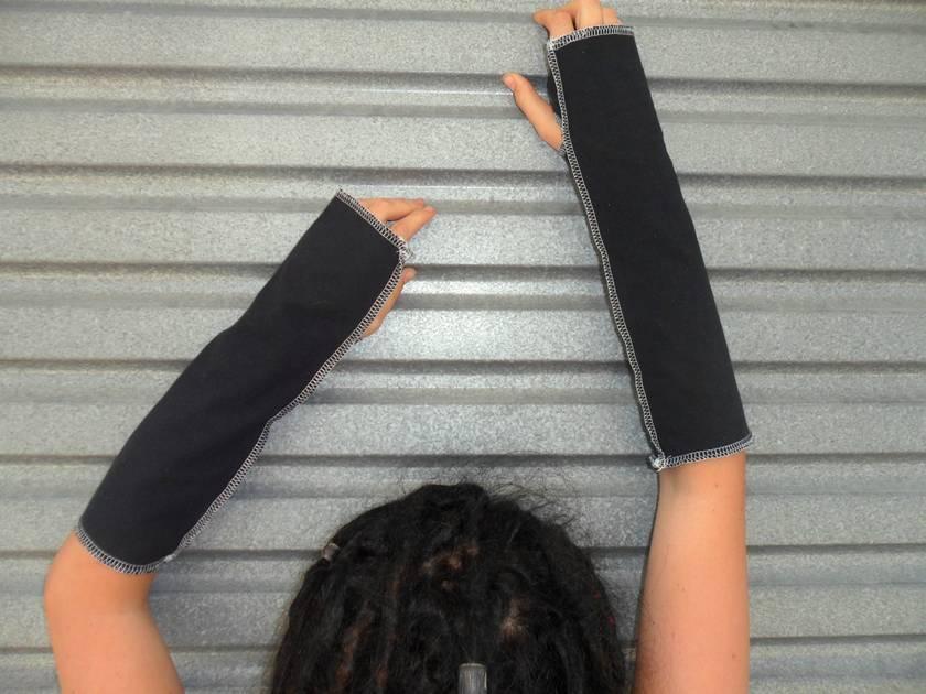 Black Cotton Armwarmers