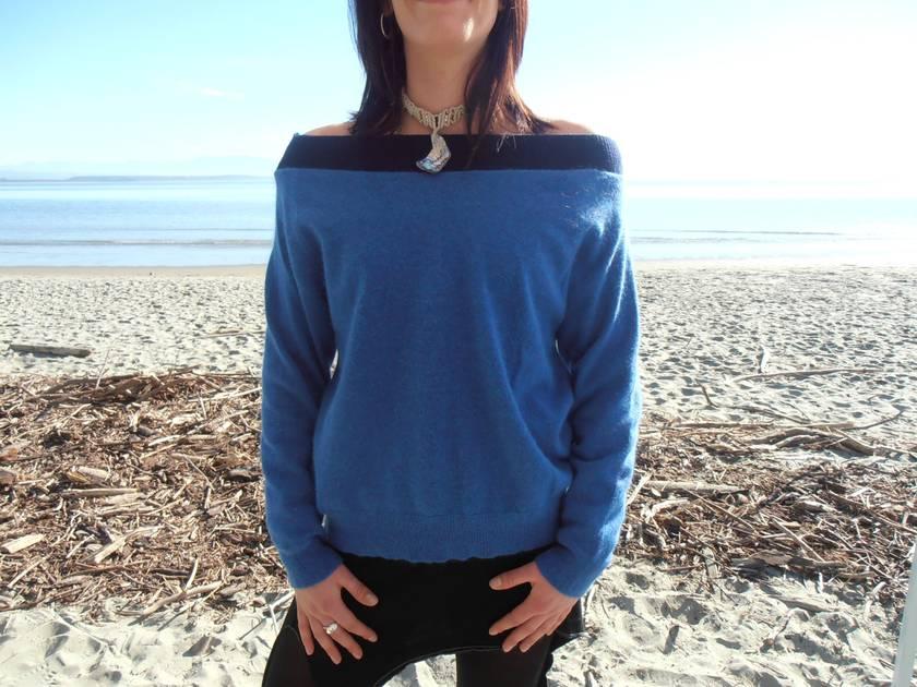 *Sale* Blue Angora Blend Jersey 10-14