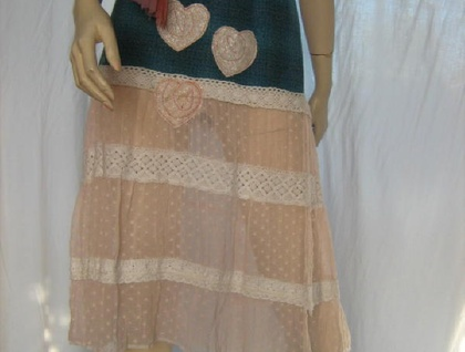 **SALE** FUNKY RECONSTRUCTED SKIRT - TWO INTO ONE! - 16