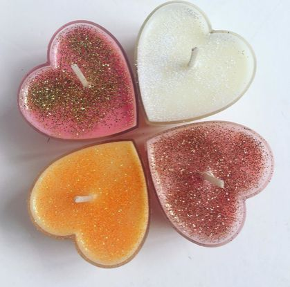 Heart Shaped Tea Light Candles