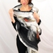 Silk scarf with merino wool