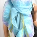 Turquoise silk and wool scarf