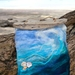 Wave from merino and silk, wall decor