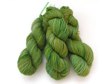 Hand-dyed merino/possum yarn