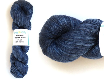 Silk/merino lace weight