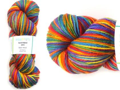 Rainbow 8ply 100% wool