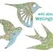New Zealand WellingtonCity Map Birds, Set of 3 laser cut Wellington Map birds for walls