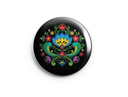 European folk art magnet set