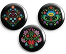 European folk art magnet set