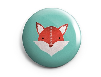 Set of 3 Illustrated Fox Magnets