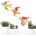 Modern Mosaic  Pattern Bird Wall Art  - Set of 3 flying birds in silhouette