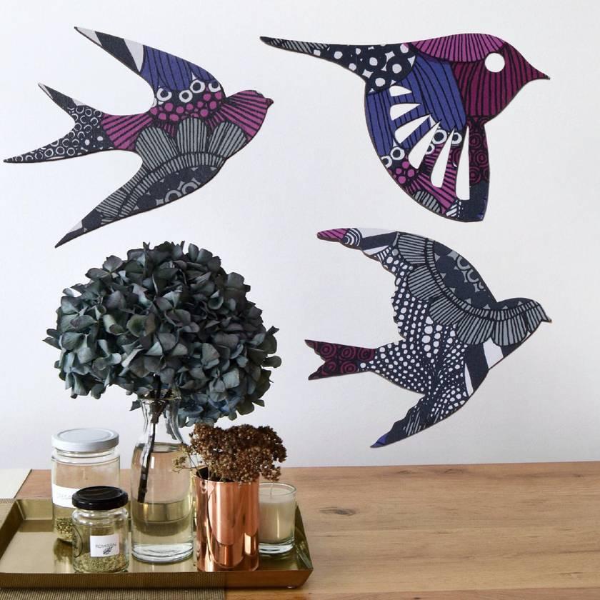 SuperVery Birds meet Marimekko Siirtolapuutarha Pattern
