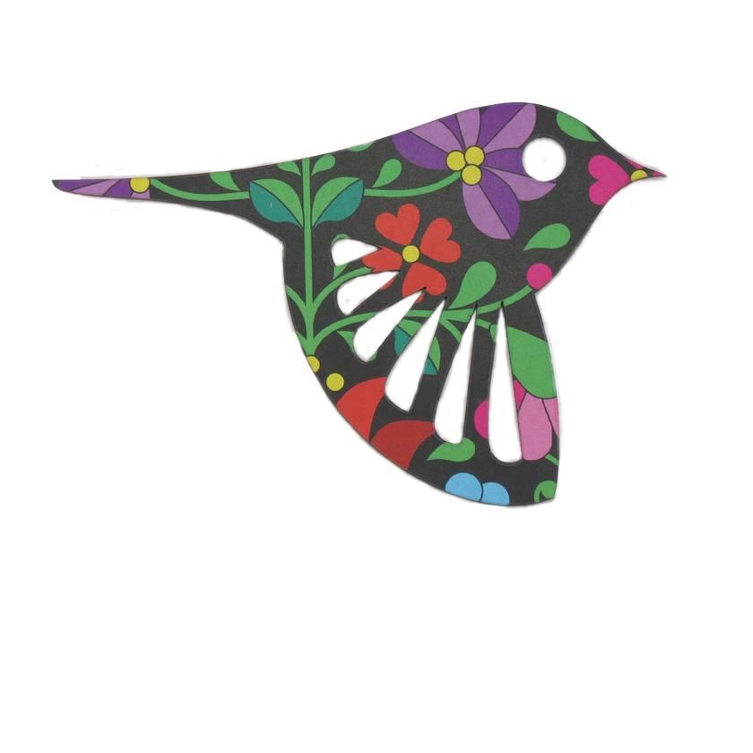 Hungarian Folk Art Wall Art  - Set of 3 flying birds