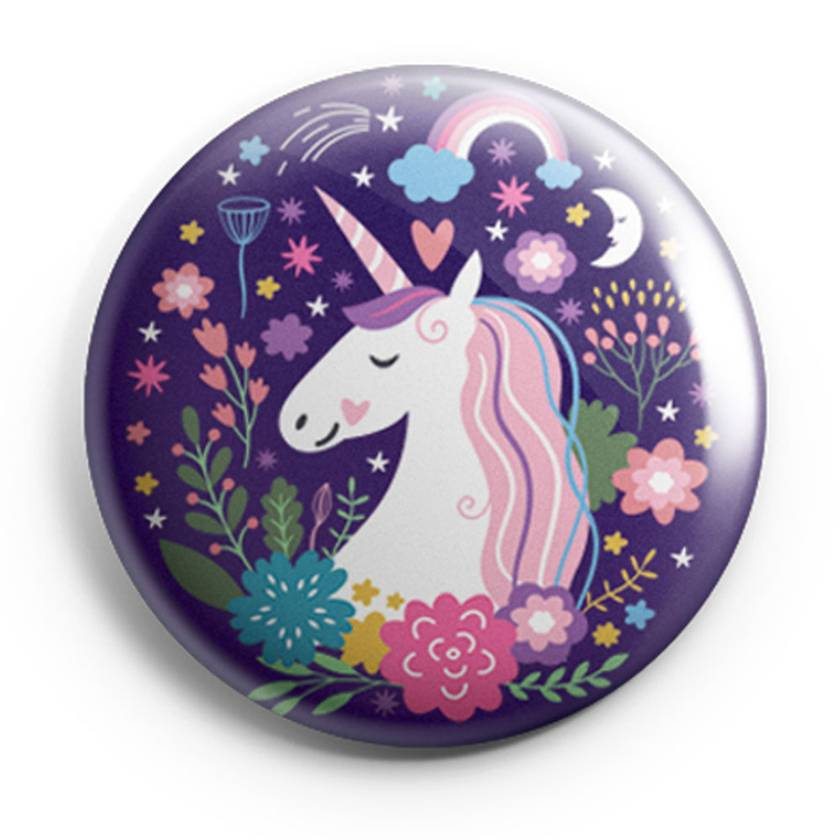 Set of 3 Illustrated Magical Herd of Button Magnets