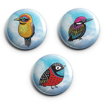 mini magnets - fully-fledged bliss of birds