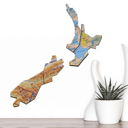 Aotearoa New Zealand Map Wall Art