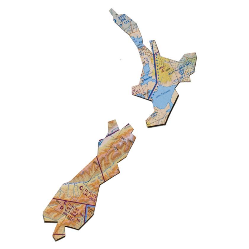 Aotearoa New Zealand Map Wall Art