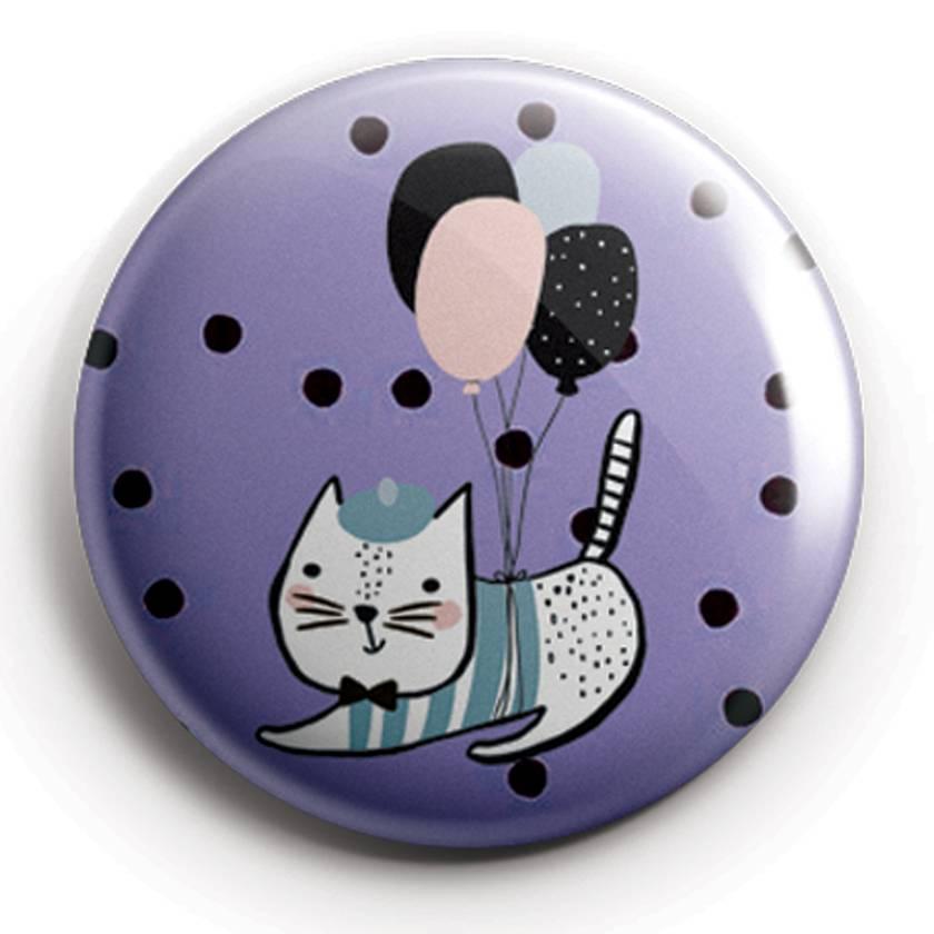 Cute cartoon animal magnet set in scandinavian style