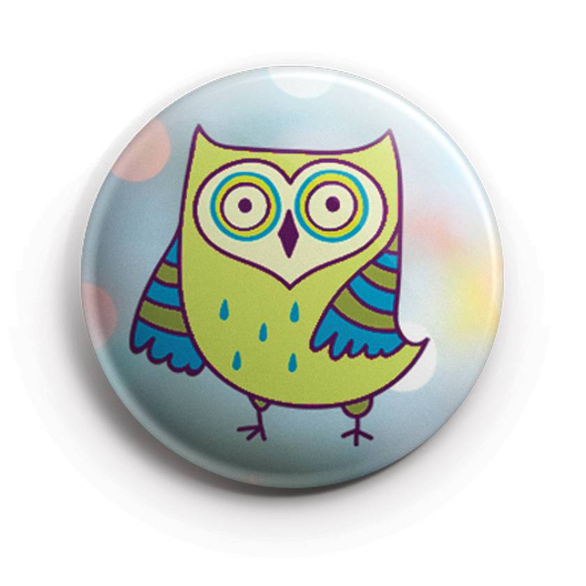 Mini Button Magnets - Caffinated Owls