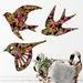 Native Birds Wall Art  - Hummingbird Paradise Pattern