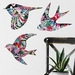 Tropical Pattern Wall Art - NZ Native Bird Set