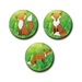 Mini Button Magnets - Forest Foxes
