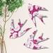 Fuchsia Florence Broadhurst Pattern - NZ Native Birds Wall Art