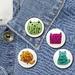 I Love Cats badge Set