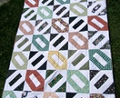 Modern retro single bed patchwork quilt