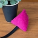 Catnip toy (fuchsia corduroy)